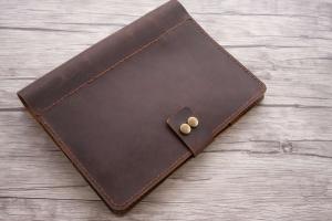 mens leather art portfolio case