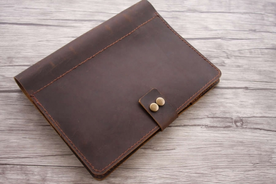 mens leather art portfolio case