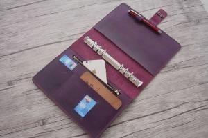 leather binder organizer