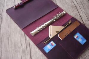 leather presentation binder