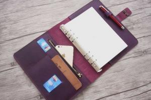 leather planner binder organizer