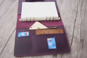 leather zipper binder