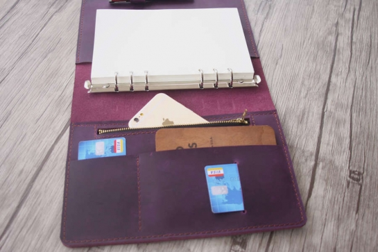 leather zipper binder