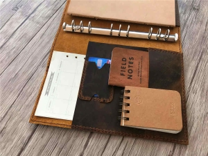 personalized leather binder