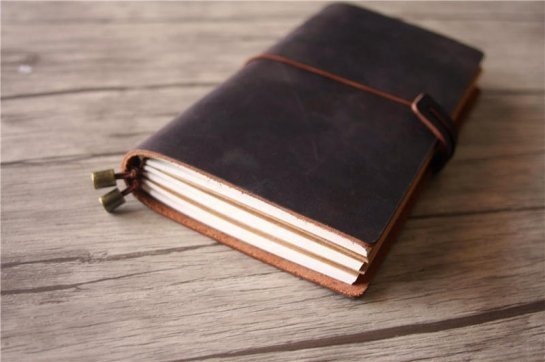 Midori leather journal