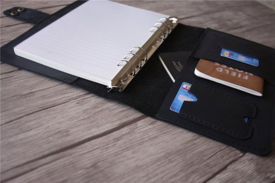 black leather writing journals