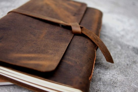 handmade leather bound journal