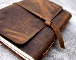 handmade leather embossed journals