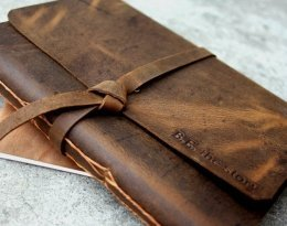 handmade leather journals uk