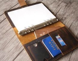 hardbound leather journal