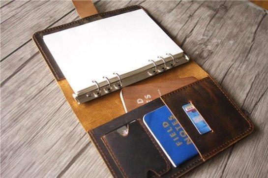 hardbound leather journal