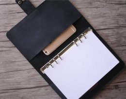 leather black journal