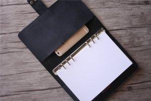 leather black journal
