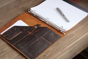 leather portfolio binder