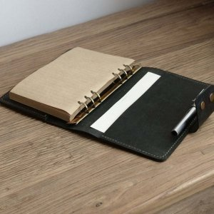 old leather bound journal her