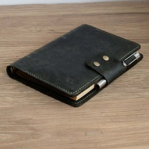 real leather bound journal for her
