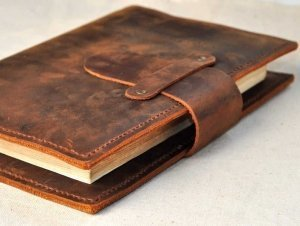 refillable leather journal