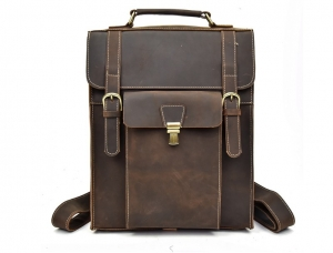 leather backpack diaper bag