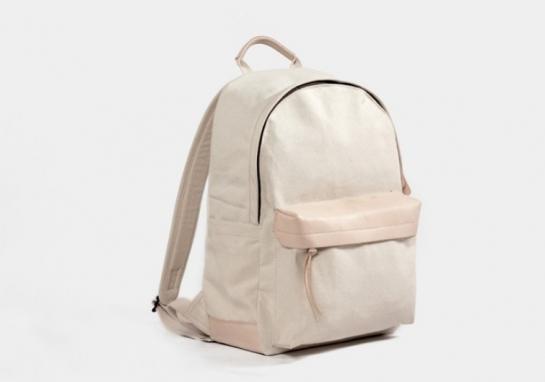 white canvas backpack amazon