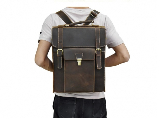 soft leather backpack purse