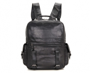 black leather backpack womens small