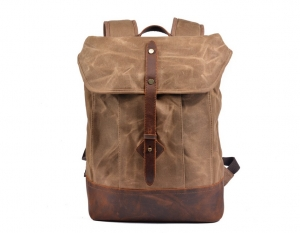 brown boys canvas backpack