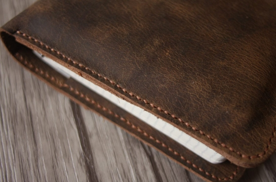 leather spiral notebook cover