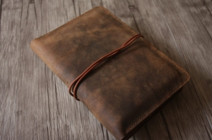 leather notebook cover refillable
