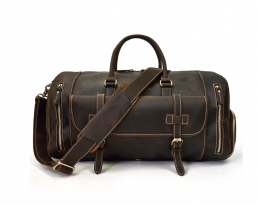 leather travel bag women's