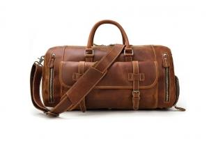 mens leather travel bag