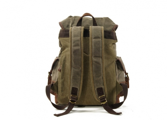 canvas sling backpack