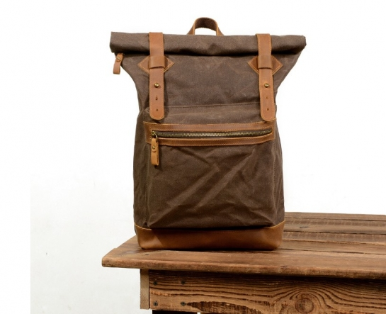 etsy waxed canvas backpack
