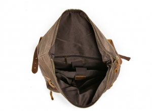 men's waxed canvas backpack
