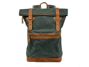green canvas backpacks