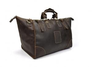 mens leather duffel travel bag