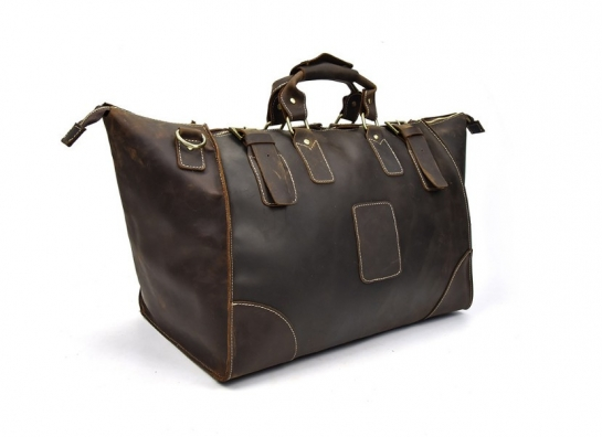 mens leather duffel travel bag
