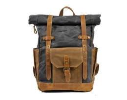 grey canvas best backpack