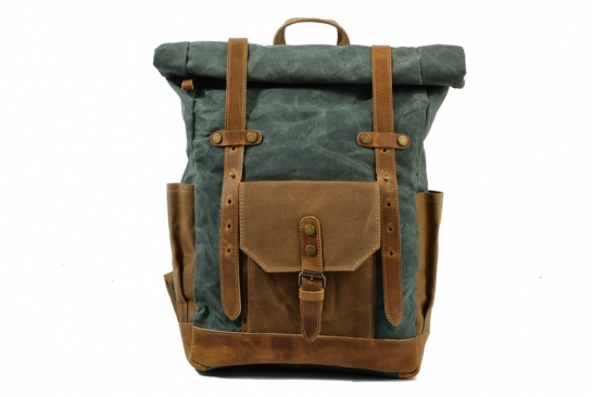 retro vintage canvas backpack