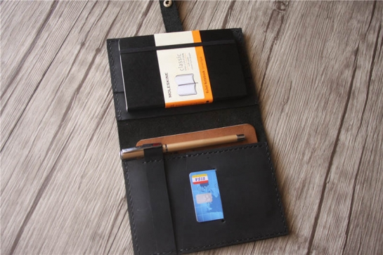 how to make a leather moleskine cover