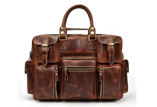 mens brown leather briefcase