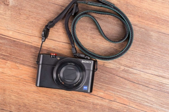 Leather dslr camera strap