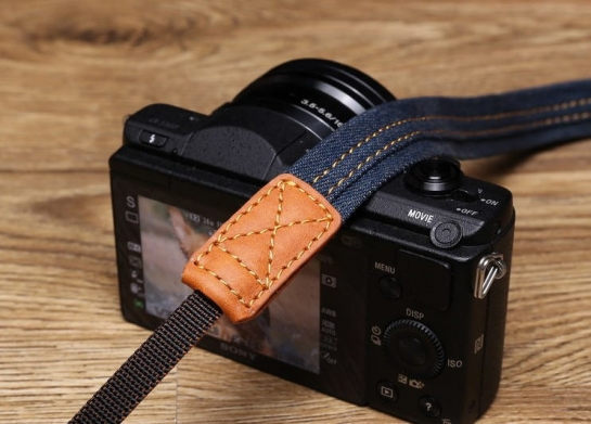 jeans camera strap