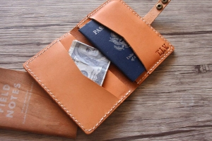 personalized passport cover leather
