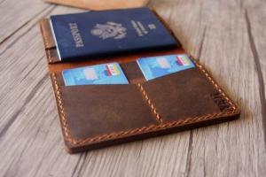 monogram passport cover