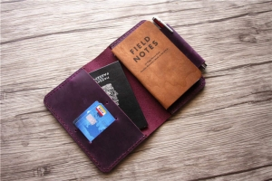 leather field notes book