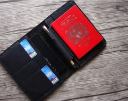 monogrammed passport holder