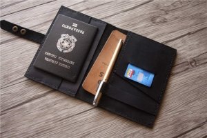 passport holder and luggage tag set