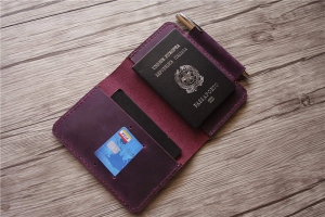 passport holder leather