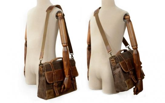 canvas leather shopper bag for women