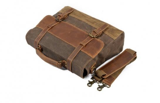 mens canvas leather bag messenger